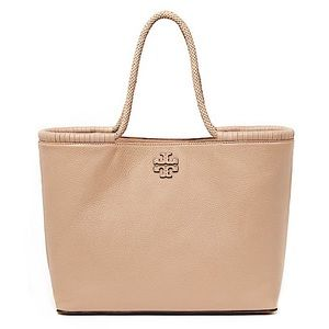 Tory Burch Taylor Large Devon Sand Leather Tote
